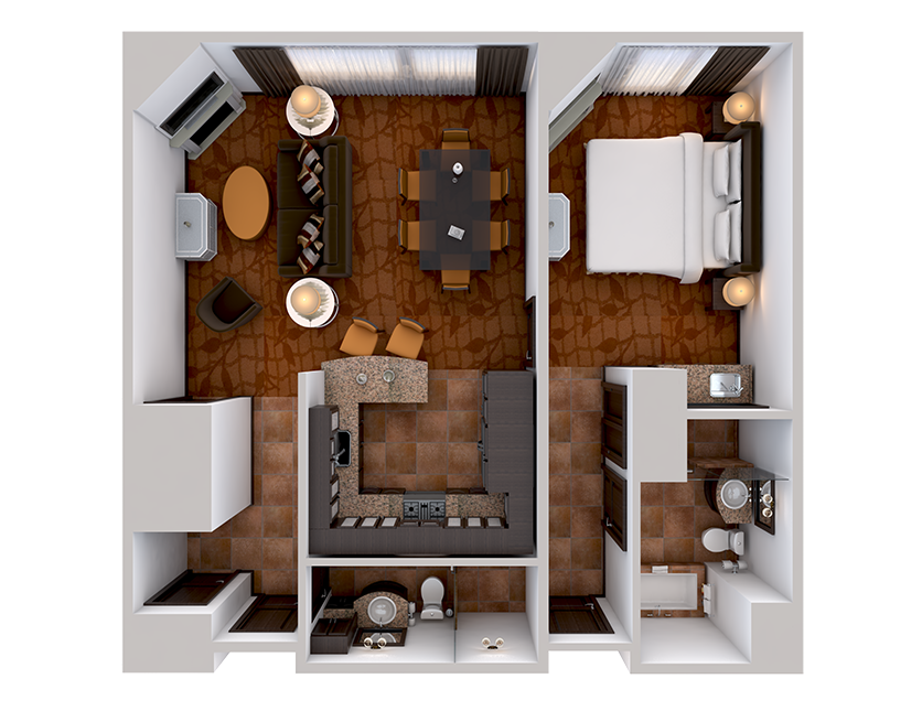 One bedroom suite pic from above